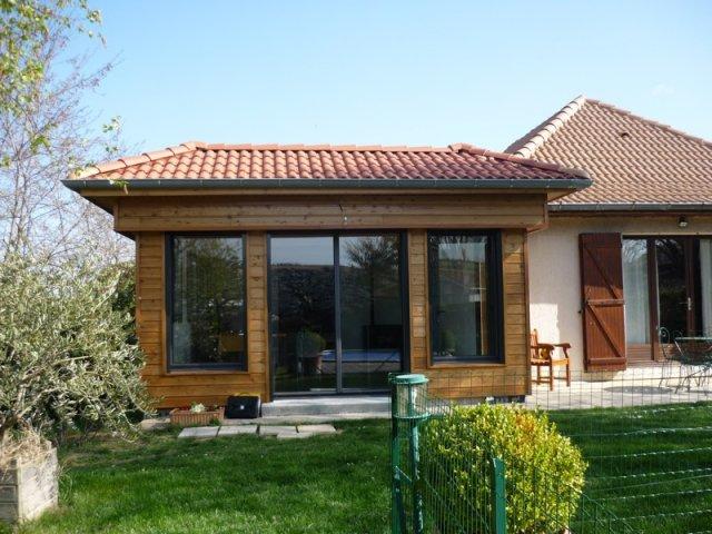 Photos extension bois au sol for Agrandissement maison 40m2 au sol